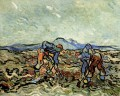 Peasants Lifting Potatoes 2 Vincent van Gogh