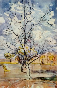 ink Art Painting - Pink Peach Trees Vincent van Gogh