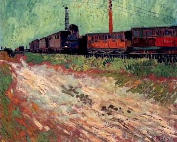 Vincent Van Gogh Painting - Railway Carriages Vincent van Gogh