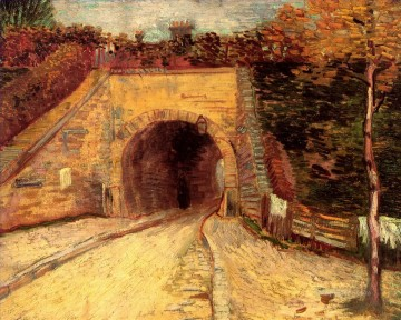 Vincent Van Gogh Painting - Roadway with Underpass The Viaduct Vincent van Gogh