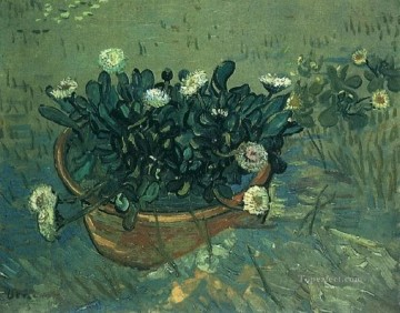 Still Life Bowl with Daisies Vincent van Gogh Oil Paintings