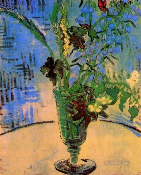 Still Life Glass with Wild Flowers Vincent van Gogh Oil Paintings