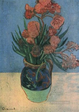 Vincent Van Gogh Painting - Still Life Vase with Oleanders Vincent van Gogh