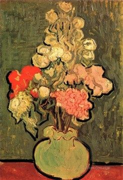Still Life Vase with Rose Mallows Vincent van Gogh Oil Paintings