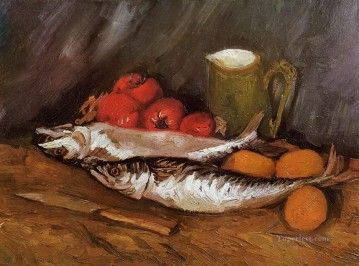 Lemons Art - Still Life with Mackerels Lemons and Tomatoes Vincent van Gogh