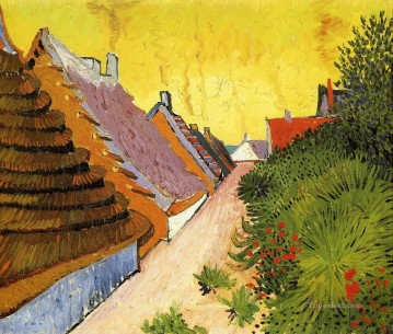 Sainte Painting - Street in Saintes Maries Vincent van Gogh