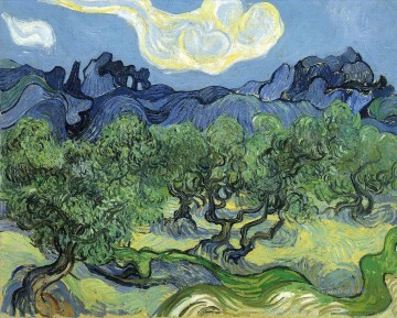 The Alpilles with Olive Trees in the Foreground Vincent van Gogh Oil Paintings