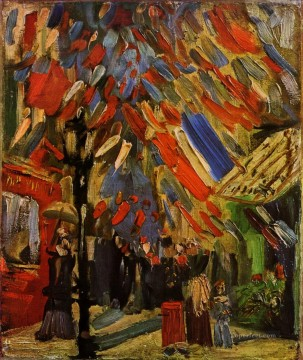 PARIS Painting - The Fourteenth of July Celebration in Paris Vincent van Gogh