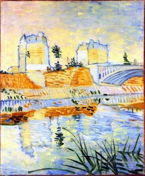 Vincent Van Gogh Painting - The Seine with the Pont de Clichy Vincent van Gogh