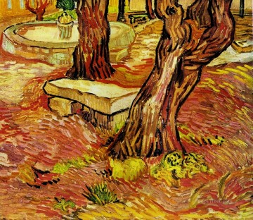 Bench Painting - The Stone Bench in the Garden at Saint Paul Hospital Vincent van Gogh