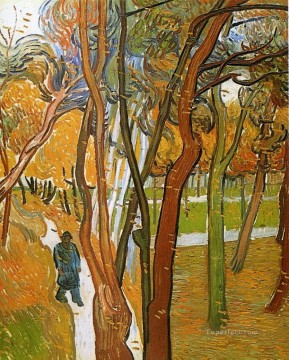 Leaves Art Painting - The Walk Falling Leaves Vincent van Gogh