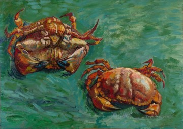 Vincent Van Gogh Painting - Two Crabs Vincent van Gogh
