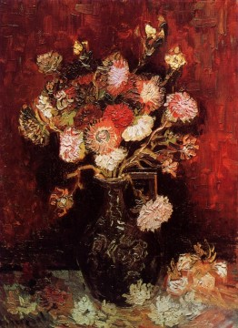 Vase with Asters and Phlox Vincent van Gogh Oil Paintings
