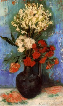 Carnations Art - Vase with Carnations and Other Flowers Vincent van Gogh
