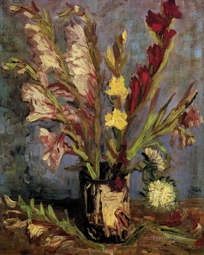 Vase with Gladioli Vincent van Gogh Oil Paintings
