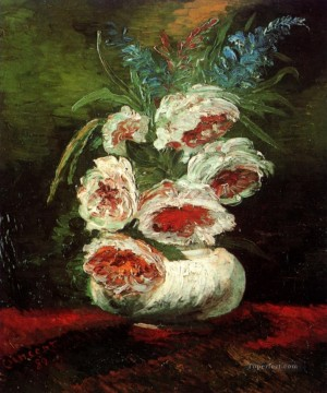 Vase with Peonies Vincent van Gogh Oil Paintings