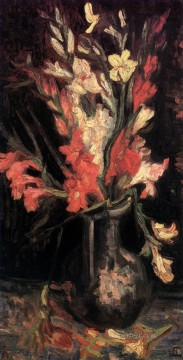 Vase with Red Gladioli 2 Vincent van Gogh Oil Paintings
