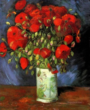 Vase with Red Poppies Vincent van Gogh Oil Paintings