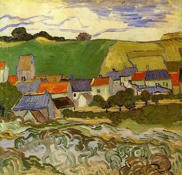 View of Auvers Vincent van Gogh Oil Paintings