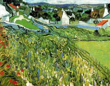 Vineyards with a View of Auvers 梵高 (凡高)油画、国画