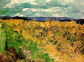 Wheat Field with Cornflowers Vincent van Gogh Oil Paintings