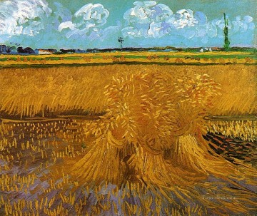 Wheatfield with Sheaves Vincent van Gogh Oil Paintings