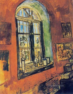 vincent van gogh Painting - Window of Vincent s Studio at the Asylum Vincent van Gogh