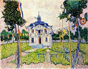 Vincent Van Gogh Painting - Auvers Town Hall in 14 July 1890 Vincent van Gogh