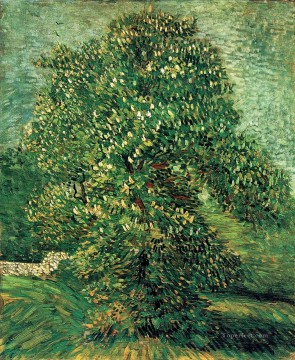 Chestnut Tree in Blossom 2 Vincent van Gogh Oil Paintings