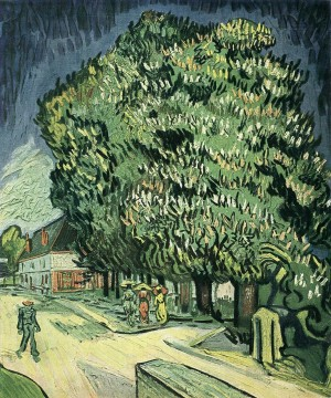 Chestnut Trees in Blossom Vincent van Gogh Oil Paintings