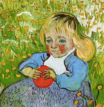 Child with Orange Vincent van Gogh Oil Paintings