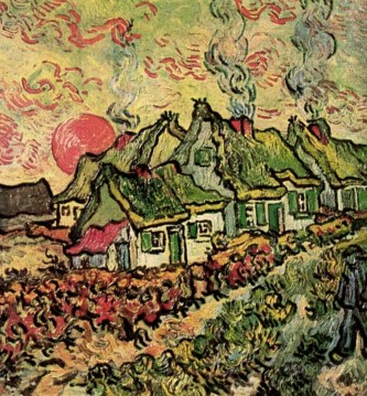 Cottages Reminiscence of the North Vincent van Gogh Oil Paintings