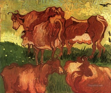 Cows Vincent van Gogh Oil Paintings