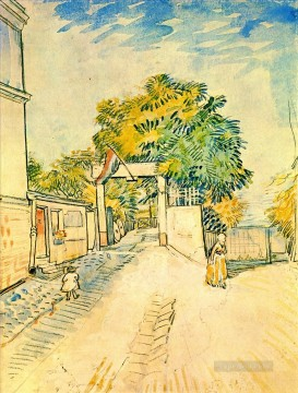 Gogh Canvas - Entrance to the Moulin de la Galette Vincent van Gogh