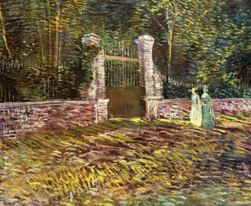 Vincent Van Gogh Painting - Entrance to the Voyer d Argenson Park at Asnieres Vincent van Gogh