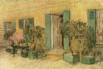 Vincent Van Gogh Painting - Exterior of a Restaurant at Asnieres Vincent van Gogh