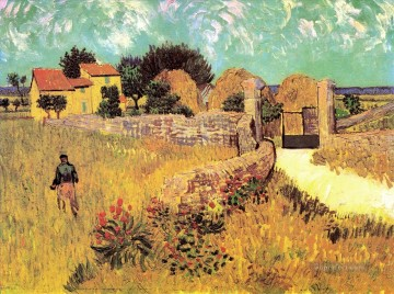 Vincent Van Gogh Painting - Farmhouse in Provence Vincent van Gogh
