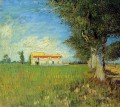 Farmhouse in a Wheat Field Vincent van Gogh