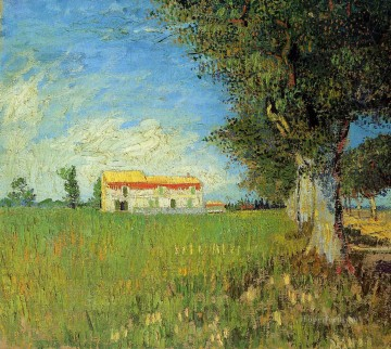 Farmhouse in a Wheat Field Vincent van Gogh Oil Paintings