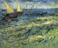 Fishing Boats at Sea Vincent van Gogh