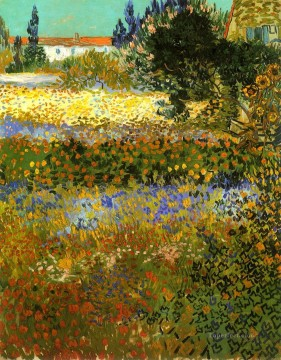 Flowering Garden Vincent van Gogh Oil Paintings