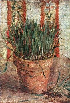 Flowerpot with Chives Vincent van Gogh Oil Paintings