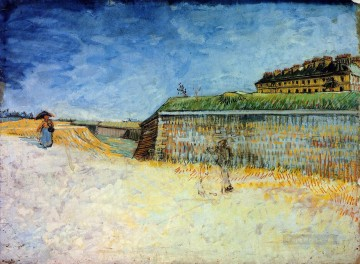 Paris Painting - Fortifications of Paris with Houses Vincent van Gogh