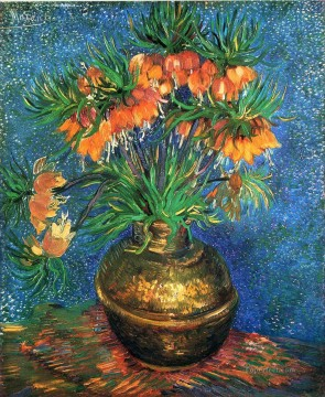 Vase Works - Fritillaries in a Copper Vase Vincent van Gogh