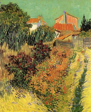 Garden Behind a House Vincent van Gogh Oil Paintings