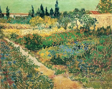Garden with Flowers Vincent van Gogh Oil Paintings