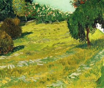 Garden with Weeping Willow Vincent van Gogh Oil Paintings