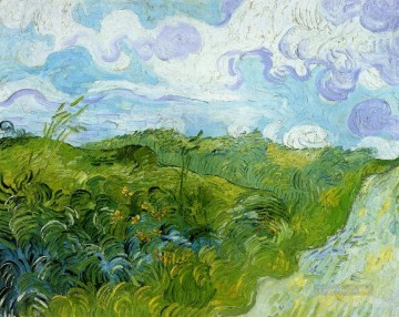 Green Wheat Fields Vincent van Gogh Oil Paintings