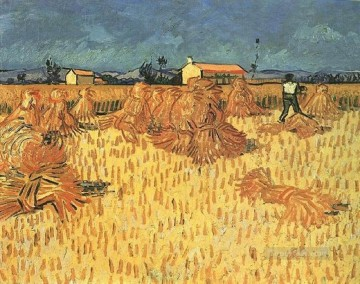 Harvest in Provence Vincent van Gogh Oil Paintings