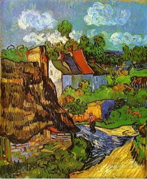 sunflowers vincent Painting - Houses in Auvers 2 Vincent van Gogh